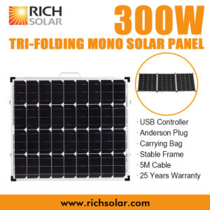 300W Tri-Folding Solar Panel 12V Foldable Solar Kit pictures & photos