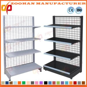 Factory Customized Metal Supermarket Gondola Shelving Unit (Zhs458) pictures & photos