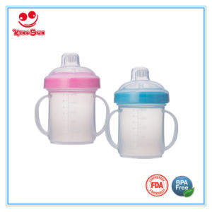 7oz BPA Free Plastic Sippy Mug for Baby Drinking Water pictures & photos