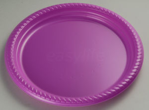 Easylife P102622 10′′ (26cm) Round Plate PS Purple pictures & photos