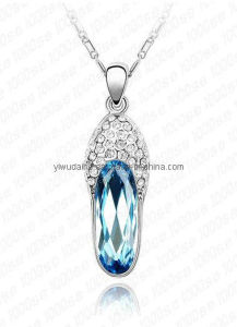 Alloy Slipper White Gold Pendant Necklace (1105960)