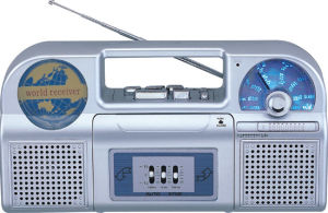 Professional Multi-Bands Portable Radio Cassette Recorder Player With Dual Speakers And 3 Band EQ (AY-378EQ)