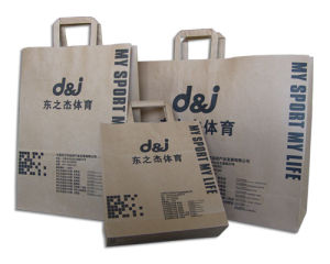 Customize Printed Flat Tape Handle Bags for Apparel pictures & photos