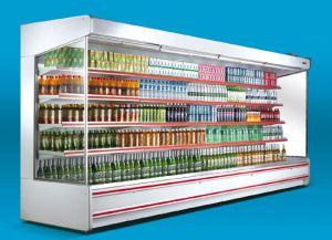 Commercial Vertical Multideck Refrigerator Cooler Showcase for Supermarket pictures & photos