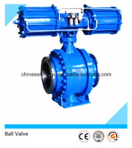 Carbon/Stainless Steel Flanged API Pneumatic Ball Valve pictures & photos