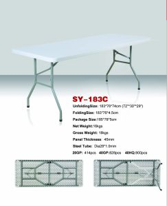 6 Foot Rectangle Folding Table (SY-183C) pictures & photos