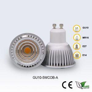 GU10 5W 85-265V White COB LED Spotlight pictures & photos