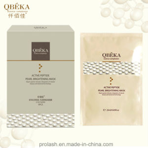 High Quality Natural QBEKA Active Peptide Pearl Whitening Mask pictures & photos