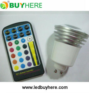 LED Dimmable LED Bulb With Remote Controller High Power RGB LED Lighting 5W RGB Spotlight Spotlight CE&RoHS