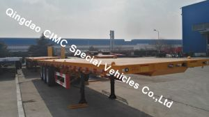 40FT Semi Truck Flatbed Trailer with 3 Axles for Sales pictures & photos