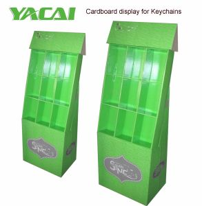 Keychains Cardboard Floor Display with Glossy Lamination, Pop Cardboard Retail Display Stand pictures & photos