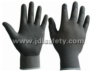 Nylon Work Glove with Superfine Foam Nitrile Dipping (N1554) pictures & photos