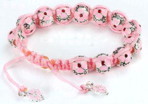 Pink Fairy Silver Charm Bead Bracelet Ve23