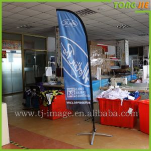 Advertising 1 Side Printed 12′ Feather Flag with Cross Base pictures & photos