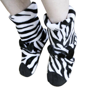 Hot Cold Ice Gel Pack for Pain Relief Beneficial to Human Body Health Animal Zebra Zebra Socks (P20109)