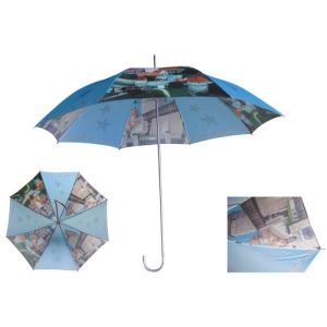 Heat Transfer Printing Straight Umbrella (SU009) pictures & photos