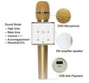Q7 Bluetooth Karaoke Speaker Microphone