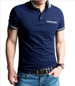 Wholesale Fashtion 100%Cotton Polo Shirt for Men (XY0018) pictures & photos