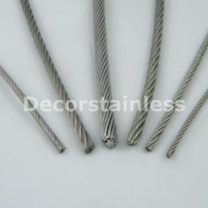 Stainless Steel 6X24+7FC Wire Rope pictures & photos