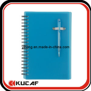 Spiral Bound PVC Ruled Line Notebook with Pen pictures & photos
