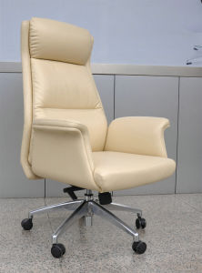 White Leather Office Armchair pictures & photos