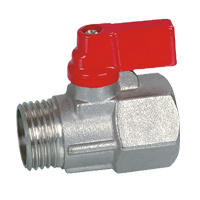 Brass Mini Ball Valve (BV-1026) M/F with Aluninium pictures & photos