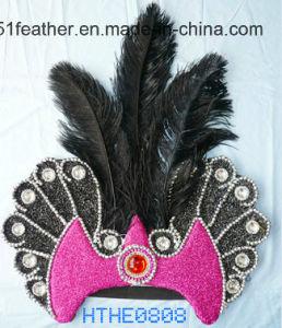 Handmade Indian Ostrich/Turkey Feather Headdress pictures & photos