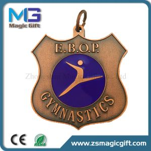 Professional Bulk Production 3D Basketball Sport Medal with Antique Copper Finished pictures & photos