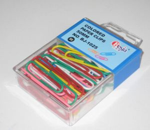 50mm Colored Paper Clips Pack in PVC Box (BJ-1025) pictures & photos