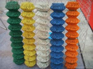 PVC-Coated Chain Link Wire Mesh Fence pictures & photos