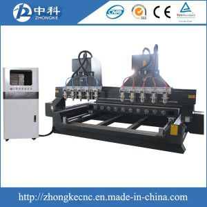 Woodworking Multi Head 4axis CNC Router pictures & photos