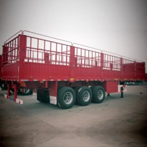 40tons Payload Stake/ Fence Cargo Semi-Trailer for Transportation pictures & photos