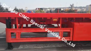 Cimc 40FT Semi Truck Flatbed Trailer with 3 Axles Truck Chassis pictures & photos