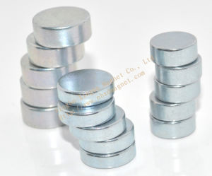 Disc Magnet Used in Loudspeaker with Zinc Coating Can Do Any Size D6.9X0.9 N35