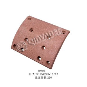 Top Quality Red Material Brake Lining (19496) for Mercedes- Benz pictures & photos