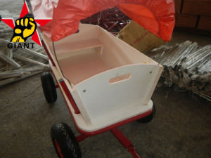 Wood Seat Steel Frame Children′s Wagon (TC1812)