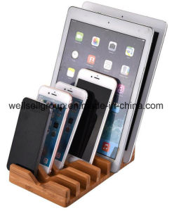 Bamboo Wood Charging Stand, 6 in 1 Bamboo Stand Holder for iPhone/iPad Mini/iPad & All Tablet PC & Mobile Phone pictures & photos