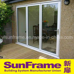 Aluminium Sliding Door System in White for Balcony Use pictures & photos