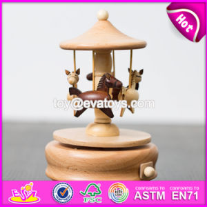 Wholesale Classical Beech Wood Kids Carousel Horse Music Box W07b039 pictures & photos