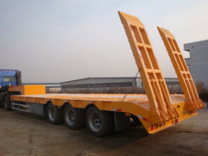 60tons 3-Axle Low Bed Semi Trailer (TAZ9740TDP) pictures & photos