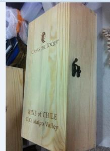 2 Bottle Wooden Wine Box, with Hinge or Slide Top pictures & photos