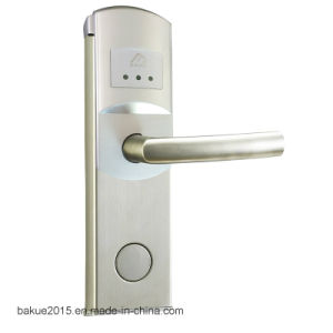 Stainless Steel Electronic Keyless Mortise Door Handle Lock for Hotel (DeHaS1007-SS-SS) pictures & photos