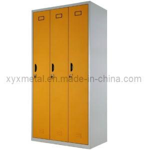 Bedroom Steel Furniture Double Color 3 Door Mini Wardrobe pictures & photos