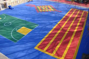 Outdoor Suspended Interlocking Sports Flooring