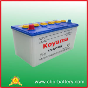 Low Maintenance Free Battery N70-12V70ah pictures & photos
