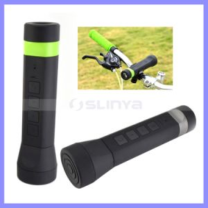 Portable Waterproof Bluetooth LED Light Bike Speaker with Battery Capacity 3000mAh Power Bank pictures & photos