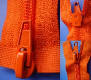 Auto Lock Close End with Two Slider Nylon Zipper pictures & photos
