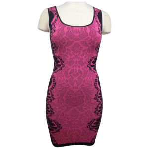 Knitted Jacquard Vest with Tight Fitting