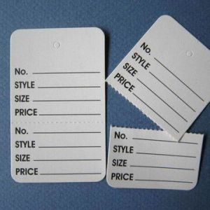 Control Tags, Printed and Perforated
