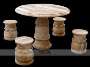 Marble Carving - Table and Chair (YSU0017)